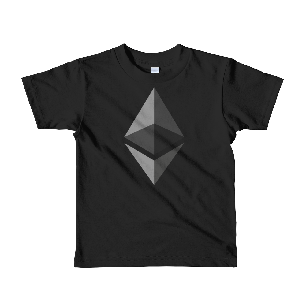 Ethereum Short Sleeve Kids T-Shirt Black 2yrs - zeroconfs