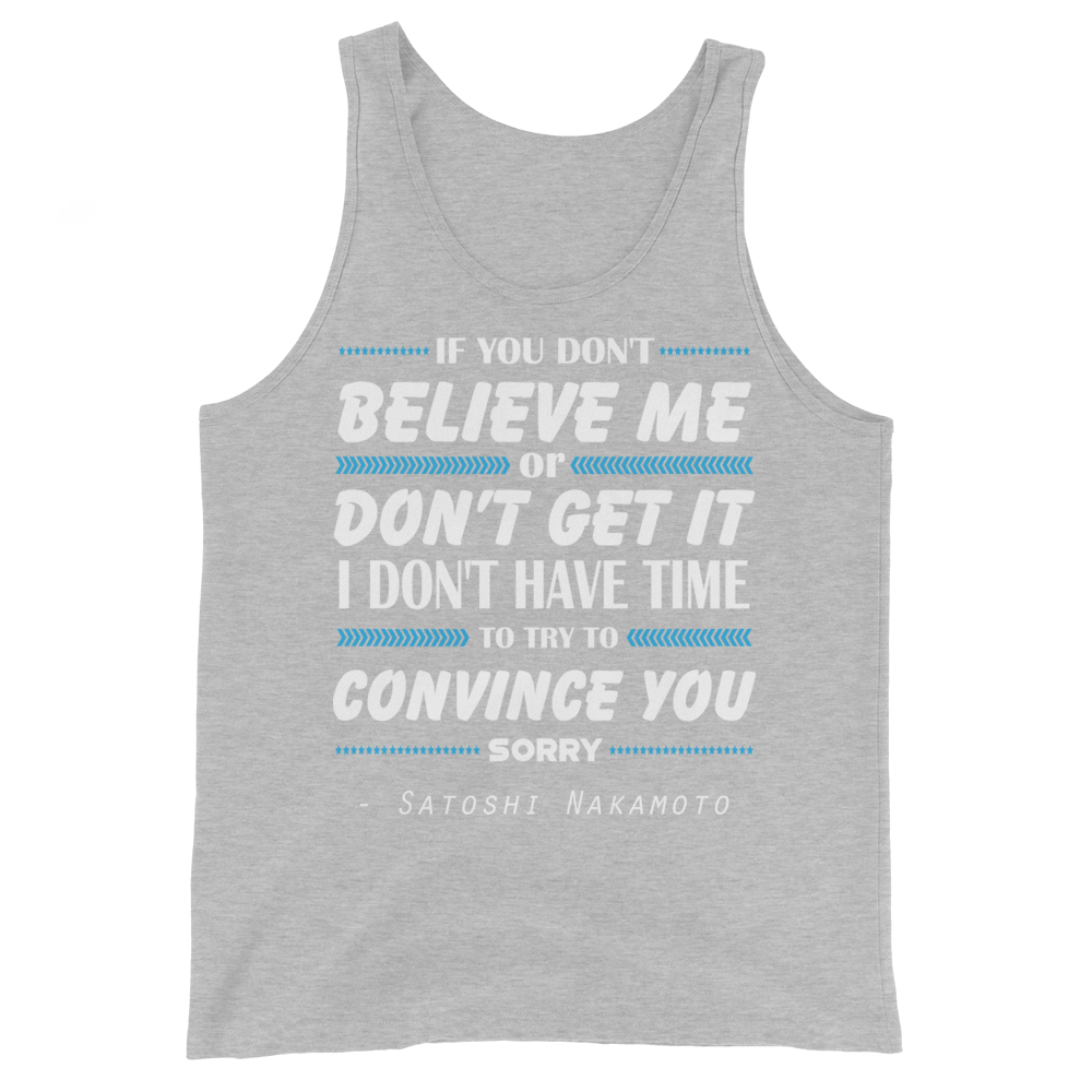 If You Don't Believe Me Bitcoin Tank Top Athletic Heather XS - zeroconfs
