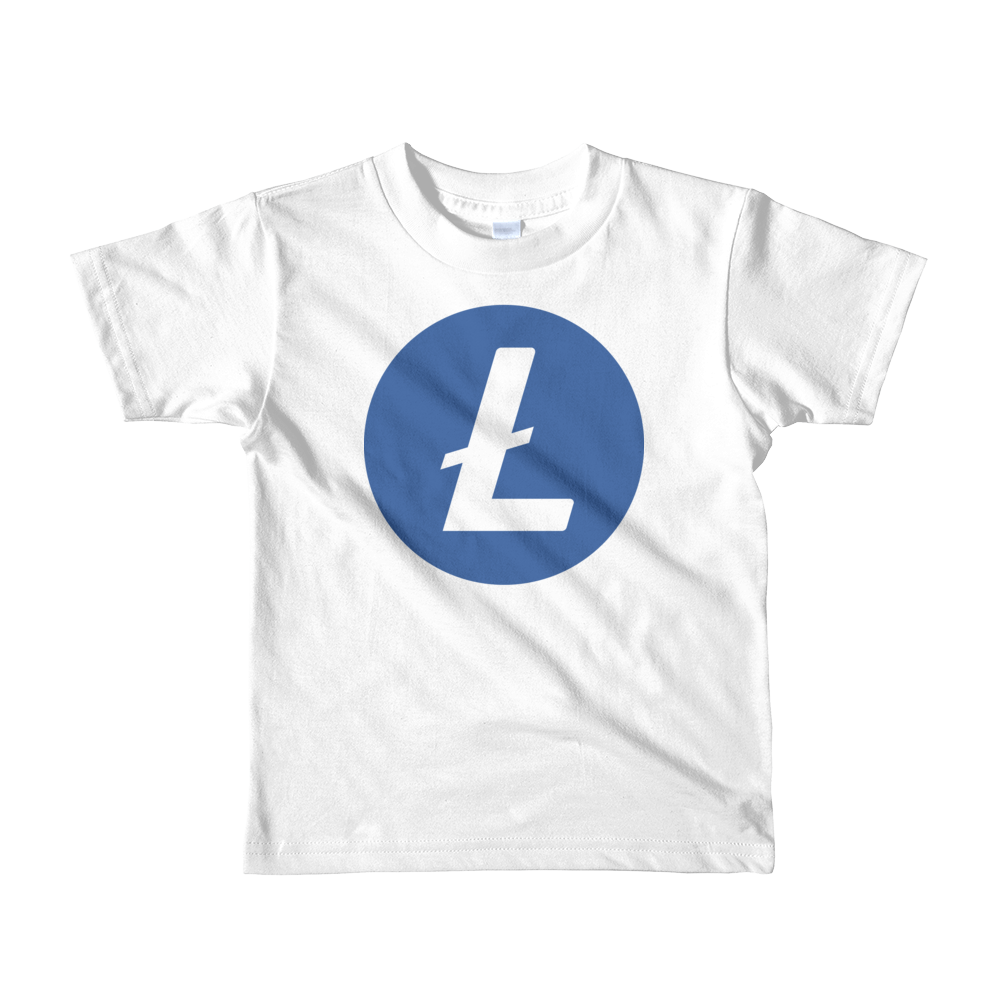 Litecoin Short Sleeve Kids T-Shirt White 2yrs - zeroconfs