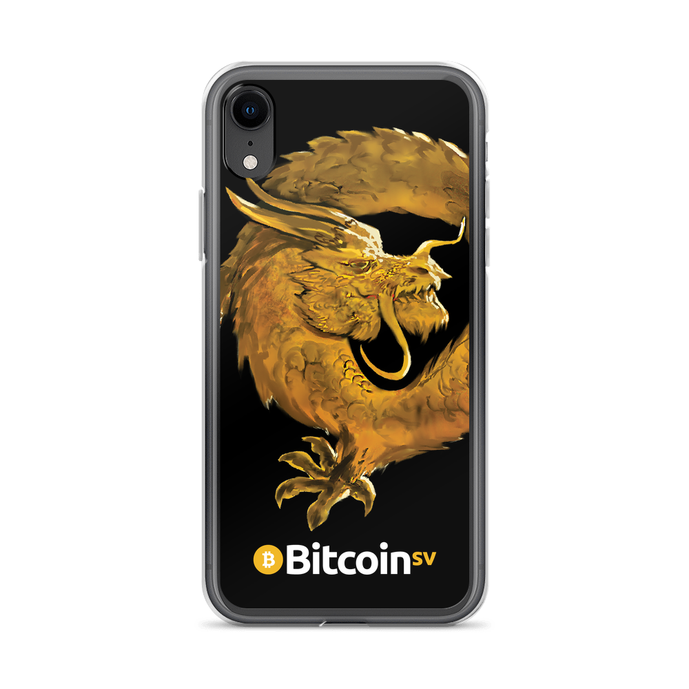 Bitcoin SV Woken Dragon iPhone Case Black iPhone XR  - zeroconfs