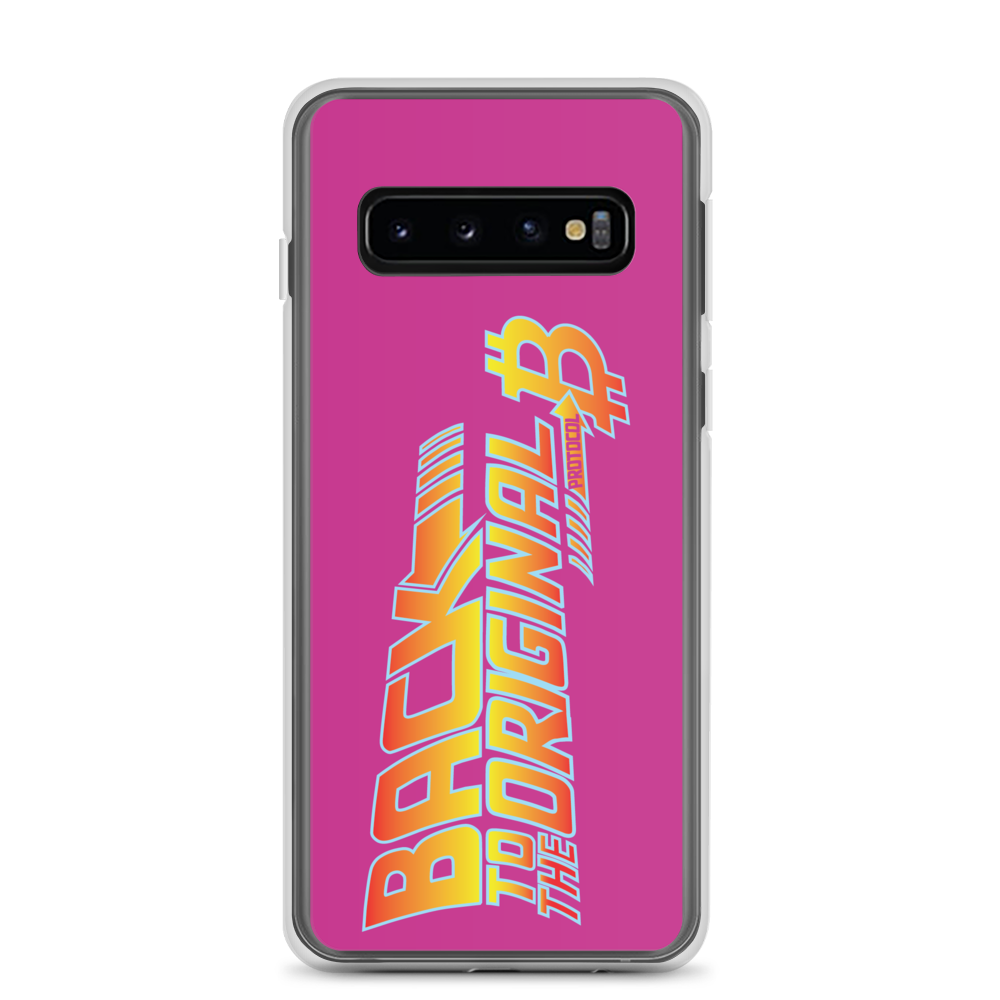 Back To The Original Bitcoin Protocol Samsung Case Pink Samsung Galaxy S10  - zeroconfs