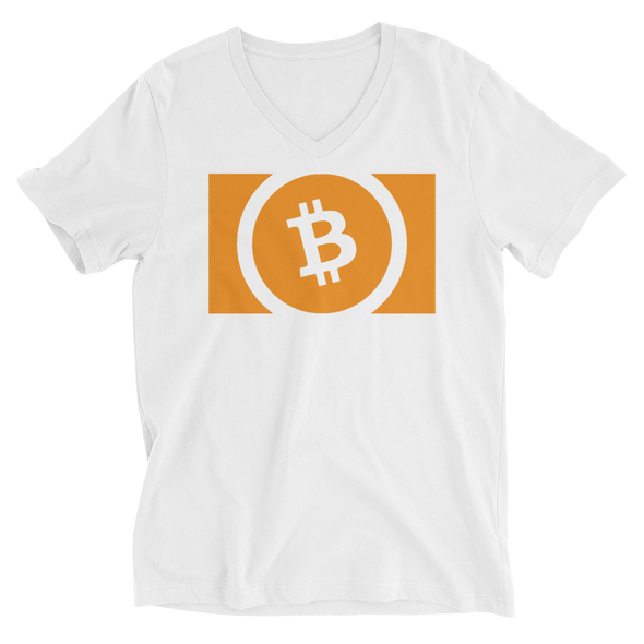 Bitcoin Cash V-Neck T-Shirt White S - zeroconfs