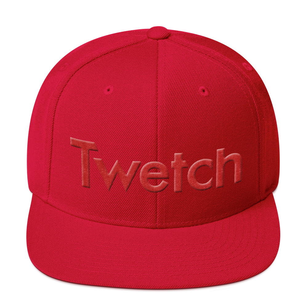 Twetch Snapback Hat Red Red  - zeroconfs