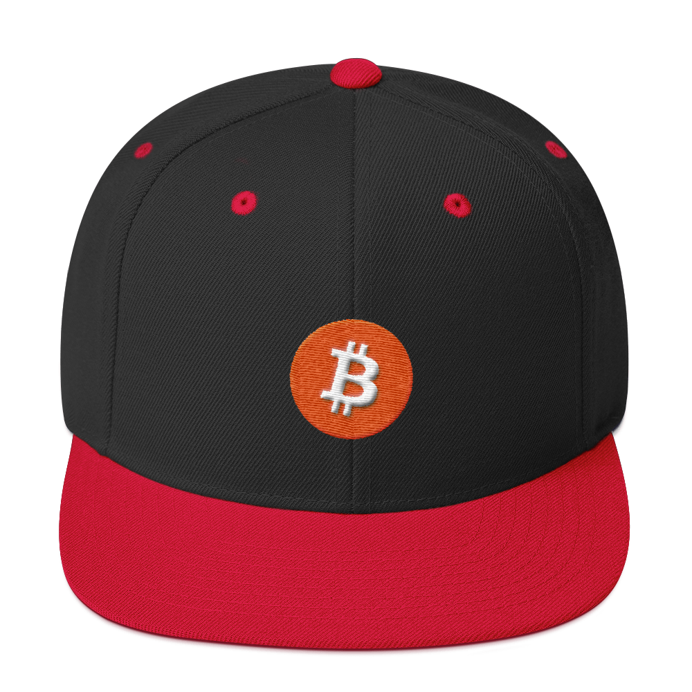 Bitcoin Core Snapback Hat Black/ Red  - zeroconfs