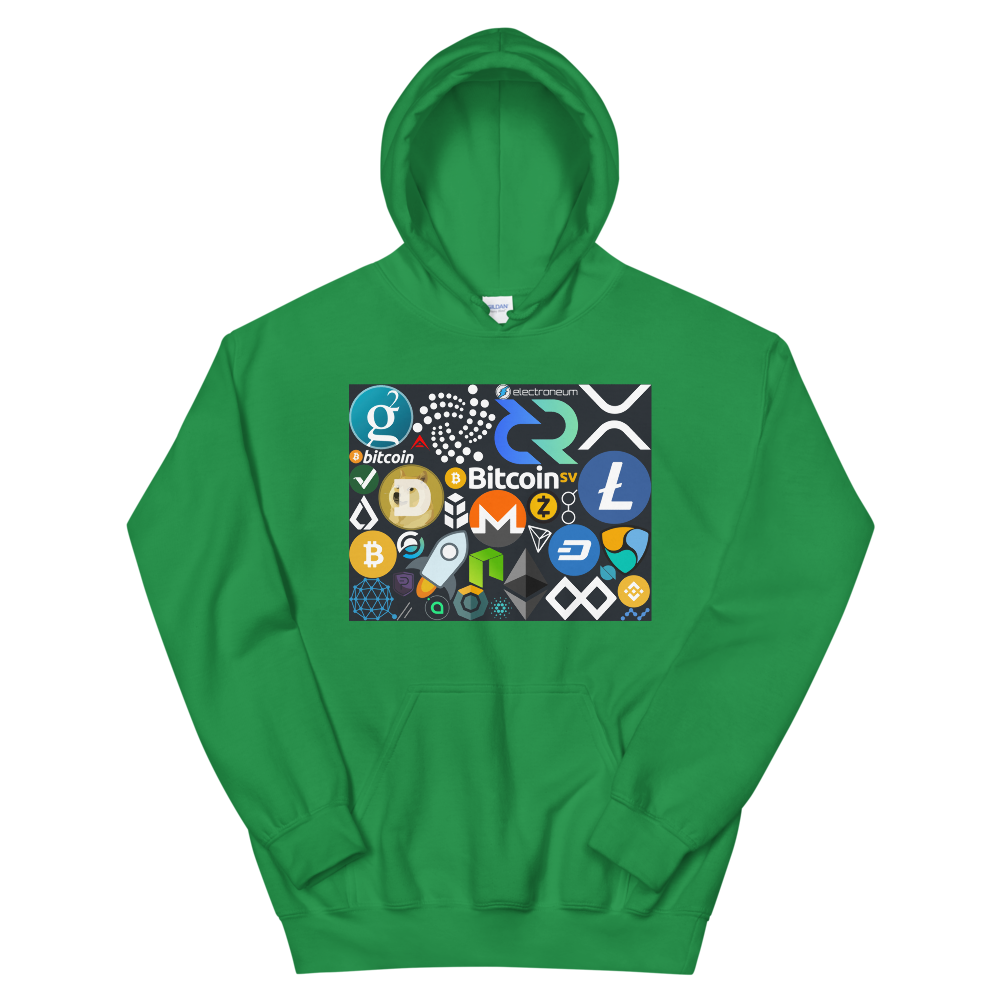 Crypto Calling Hooded Sweatshirt Irish Green S - zeroconfs