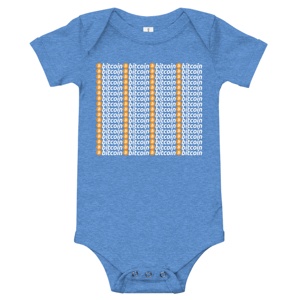 Bitcoins Baby Bodysuit Heather Columbia Blue 3-6m - zeroconfs