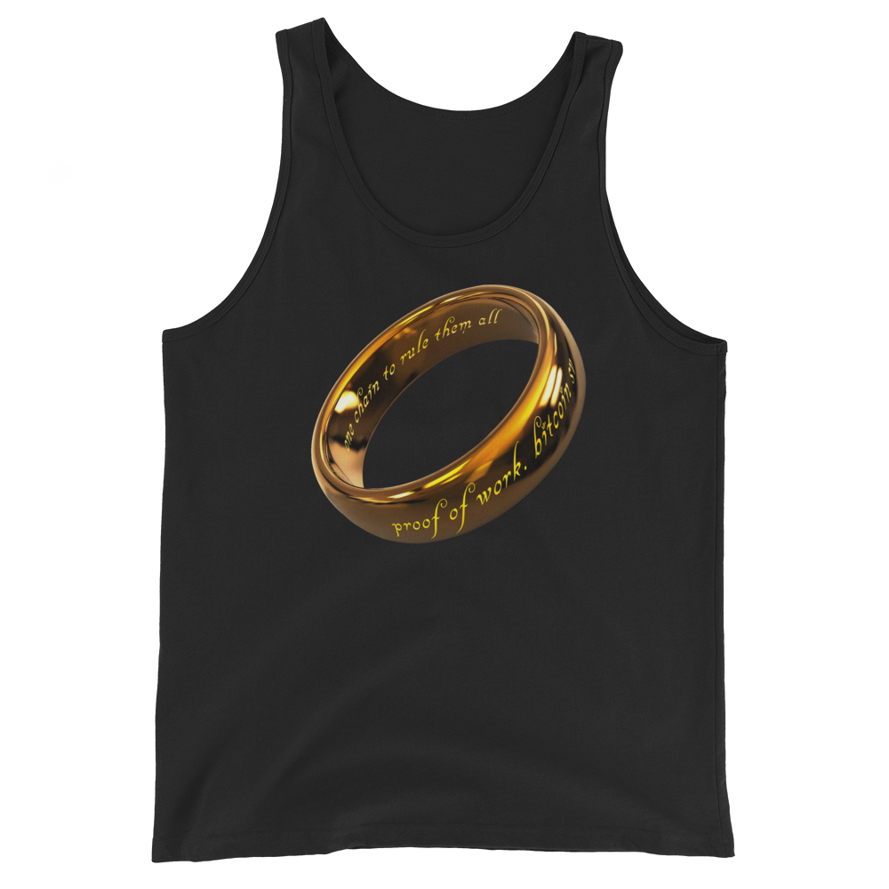 One Chain To Rule Them All Bitcoin SV Tank Top Black XS - zeroconfs