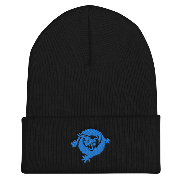 Bitcoin SV Dragon Cuffed Beanie Blue Black  - zeroconfs
