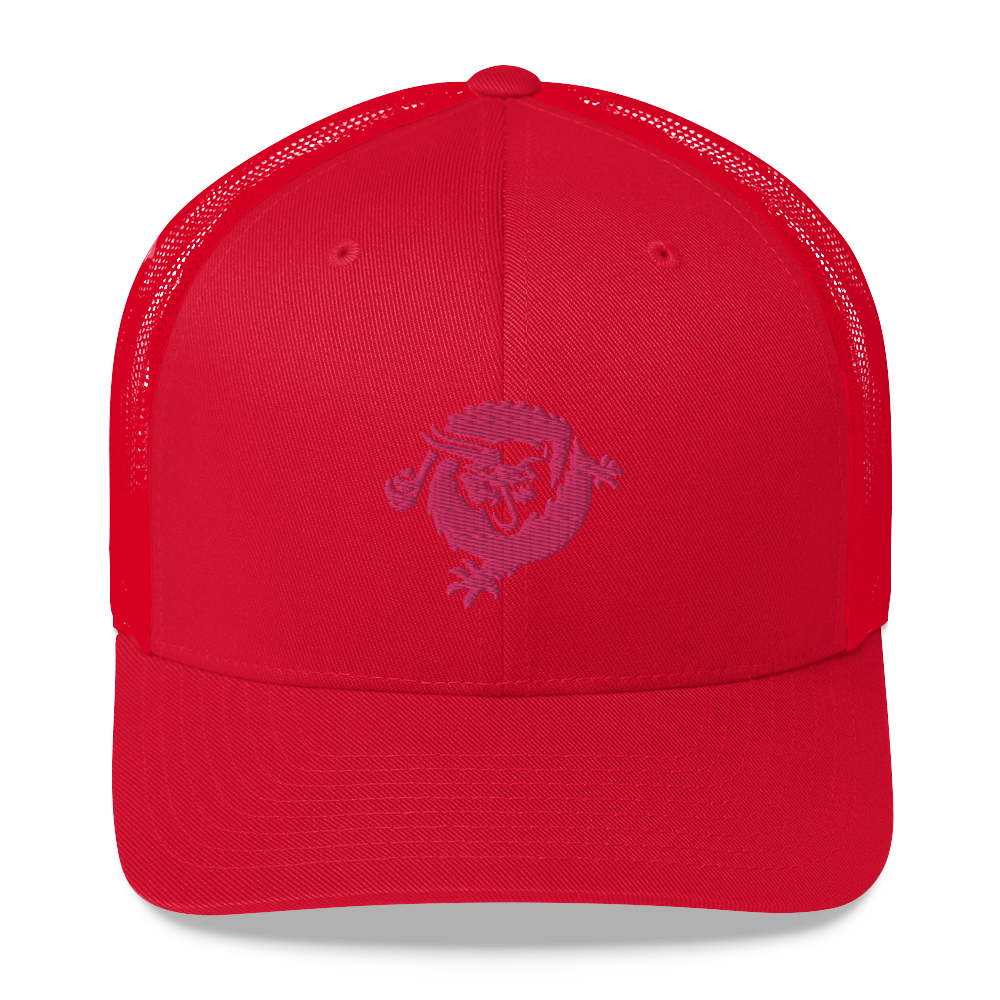 Bitcoin SV Dragon Trucker Cap Pink Red  - zeroconfs