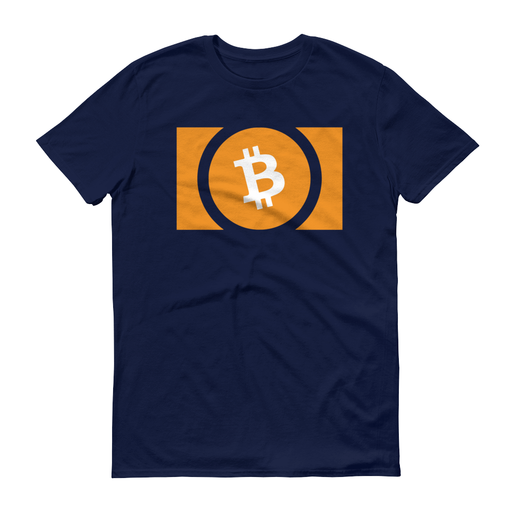 Bitcoin Cash Short-Sleeve T-Shirt Navy S - zeroconfs