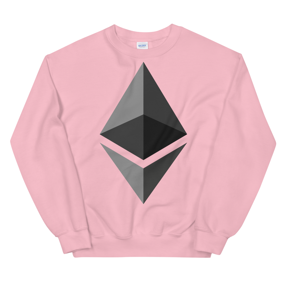 Ethereum Sweatshirt Light Pink S - zeroconfs