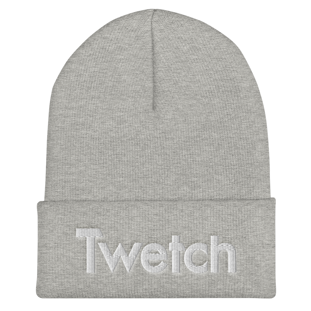 Twetch Cuffed Beanie Heather Grey  - zeroconfs