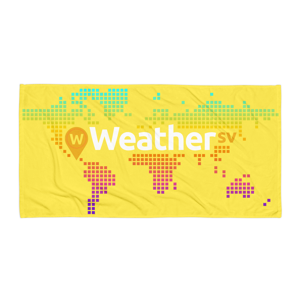 Weather SV Beach Towel Yellow Default Title  - zeroconfs