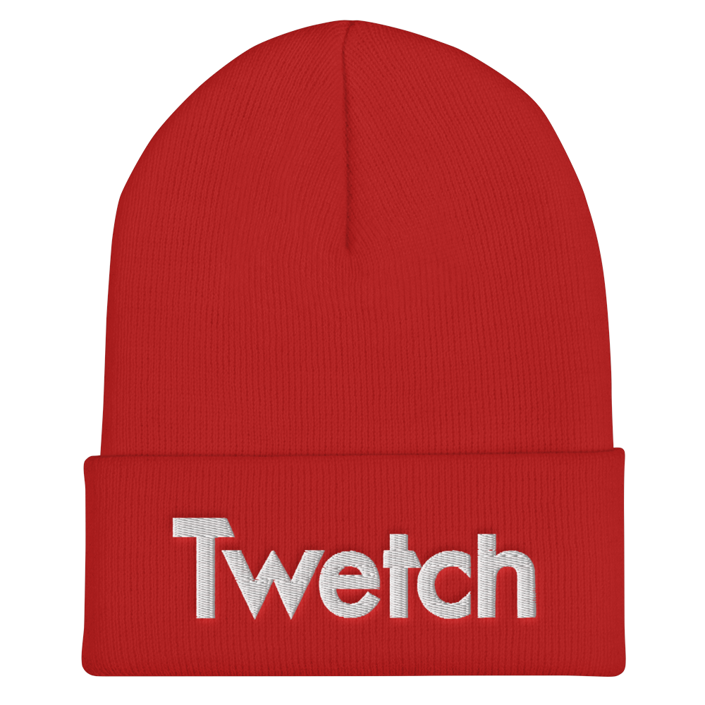 Twetch Cuffed Beanie Red  - zeroconfs