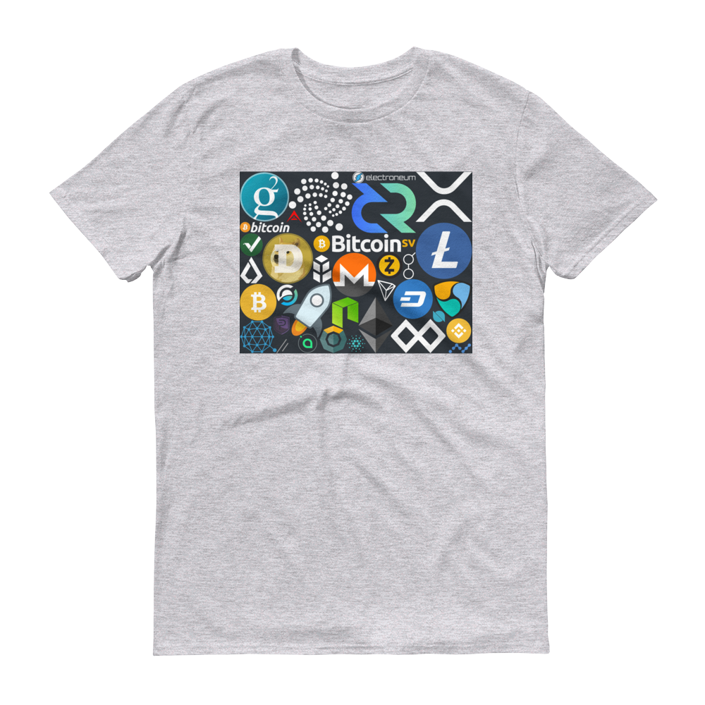 Crypto Calling Short-Sleeve T-Shirt Heather Grey S - zeroconfs