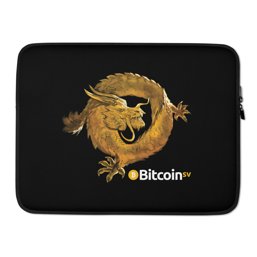 Bitcoin SV Woken Dragon Laptop Sleeve 15 in  - zeroconfs