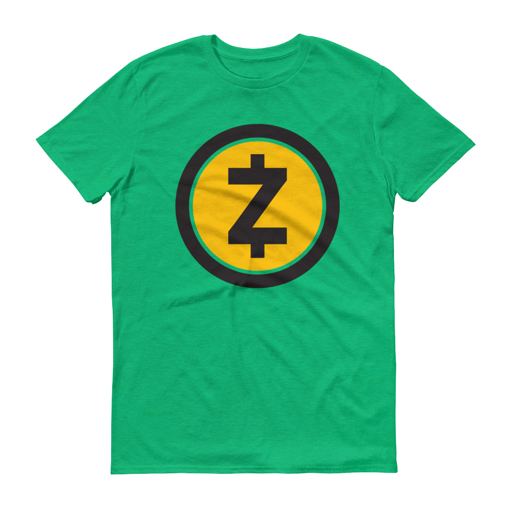Zcash Short-Sleeve T-Shirt Heather Green S - zeroconfs