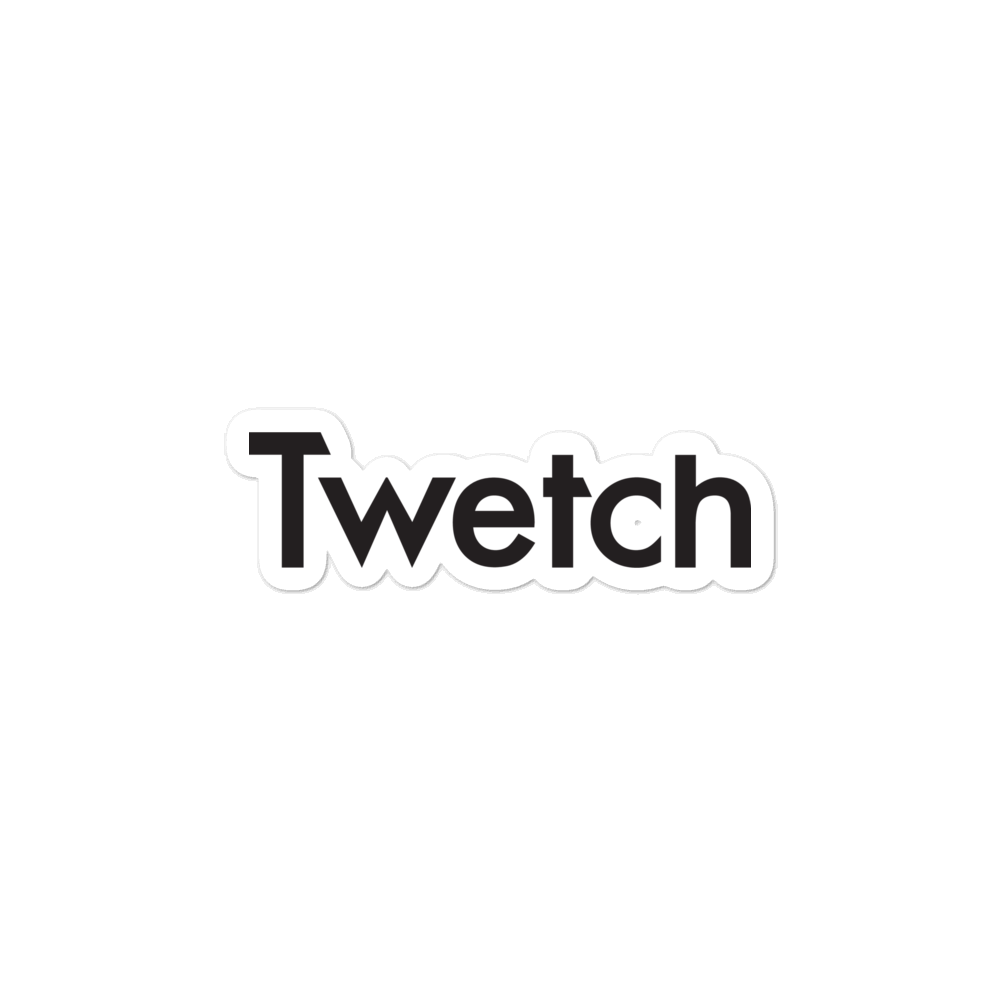 Twetch Logo Bubble-Free Vinyl Stickers 3 inch  - zeroconfs