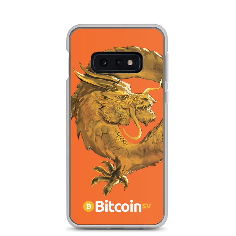 Bitcoin SV Woken Dragon Samsung Case Orange Samsung Galaxy S10e  - zeroconfs