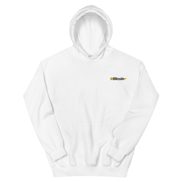 Bitcoin SV Embroidered Hooded Sweatshirt White S - zeroconfs