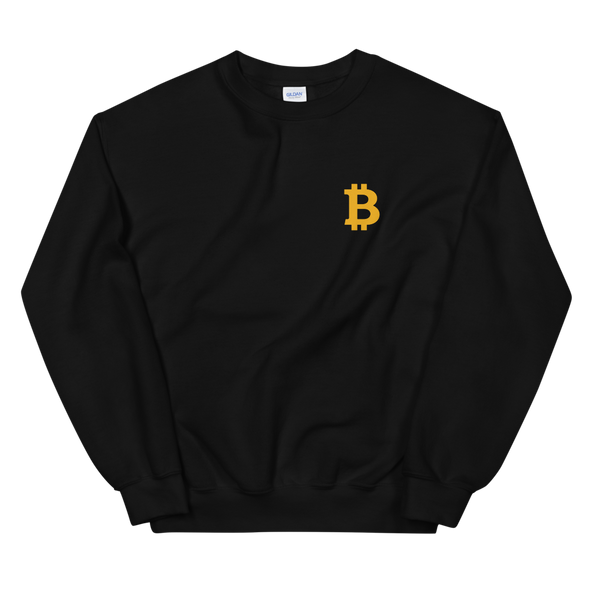 Bitcoin Small B Women's Sweatshirt Black S - zeroconfs