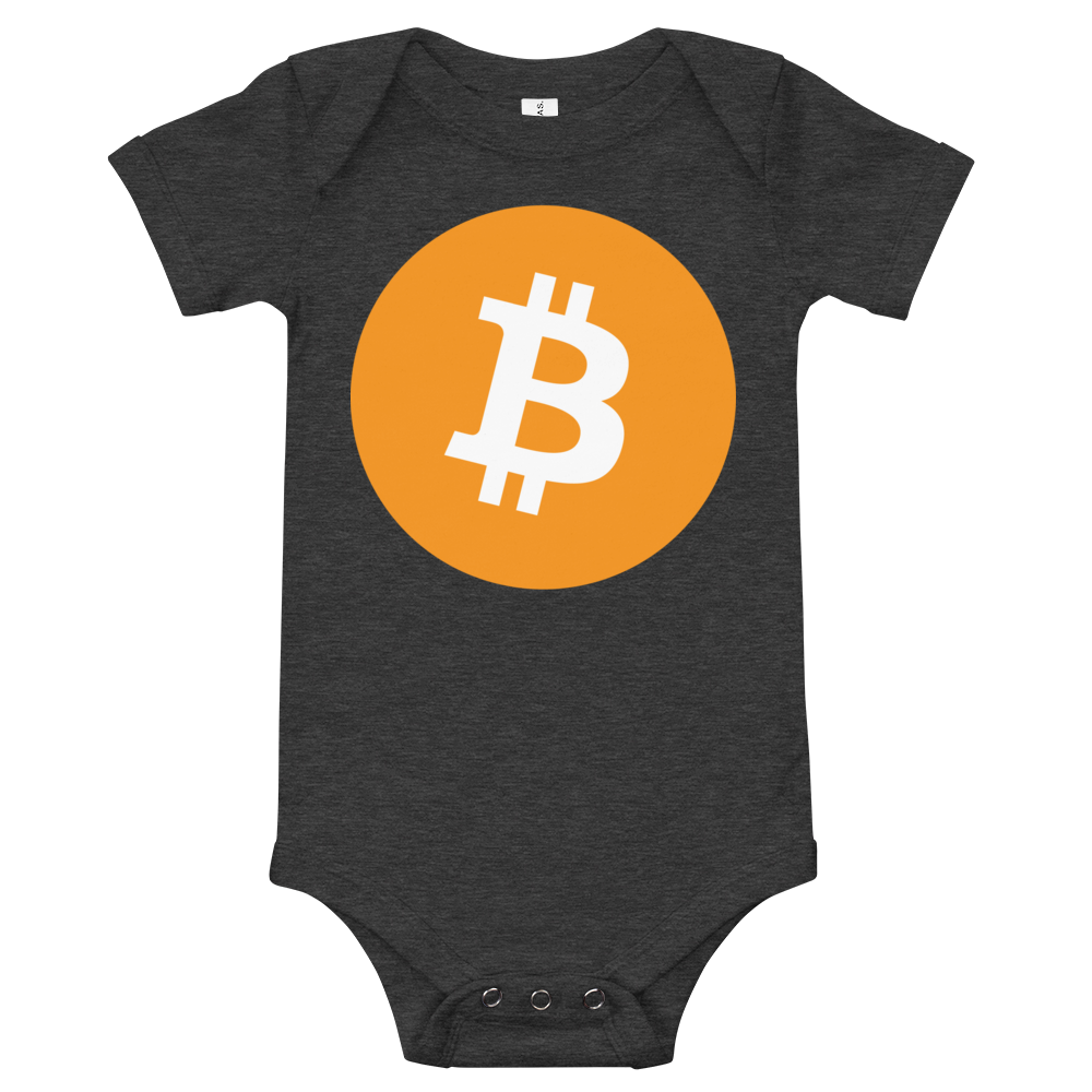 Bitcoin Core Baby Bodysuit Dark Grey Heather 3-6m - zeroconfs