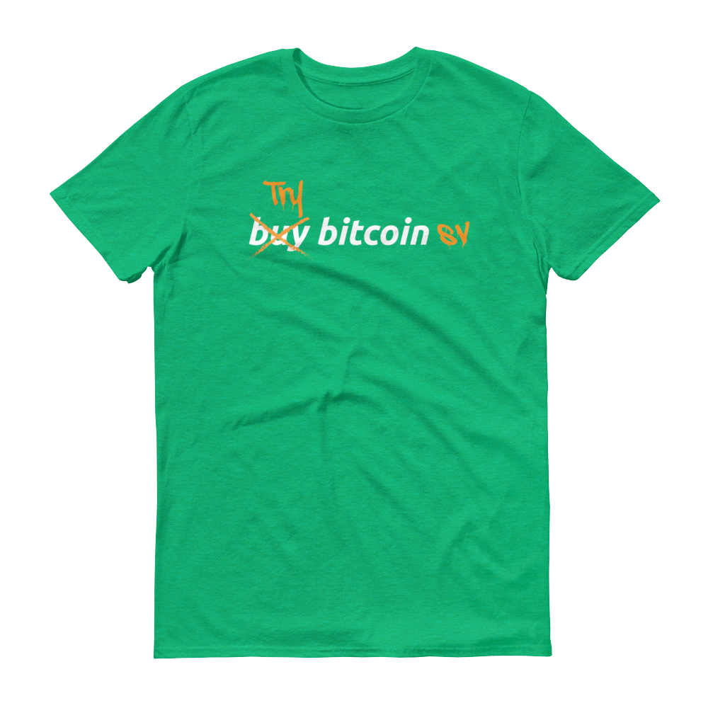Try Bitcoin SV Short-Sleeve T-Shirt Heather Green S - zeroconfs