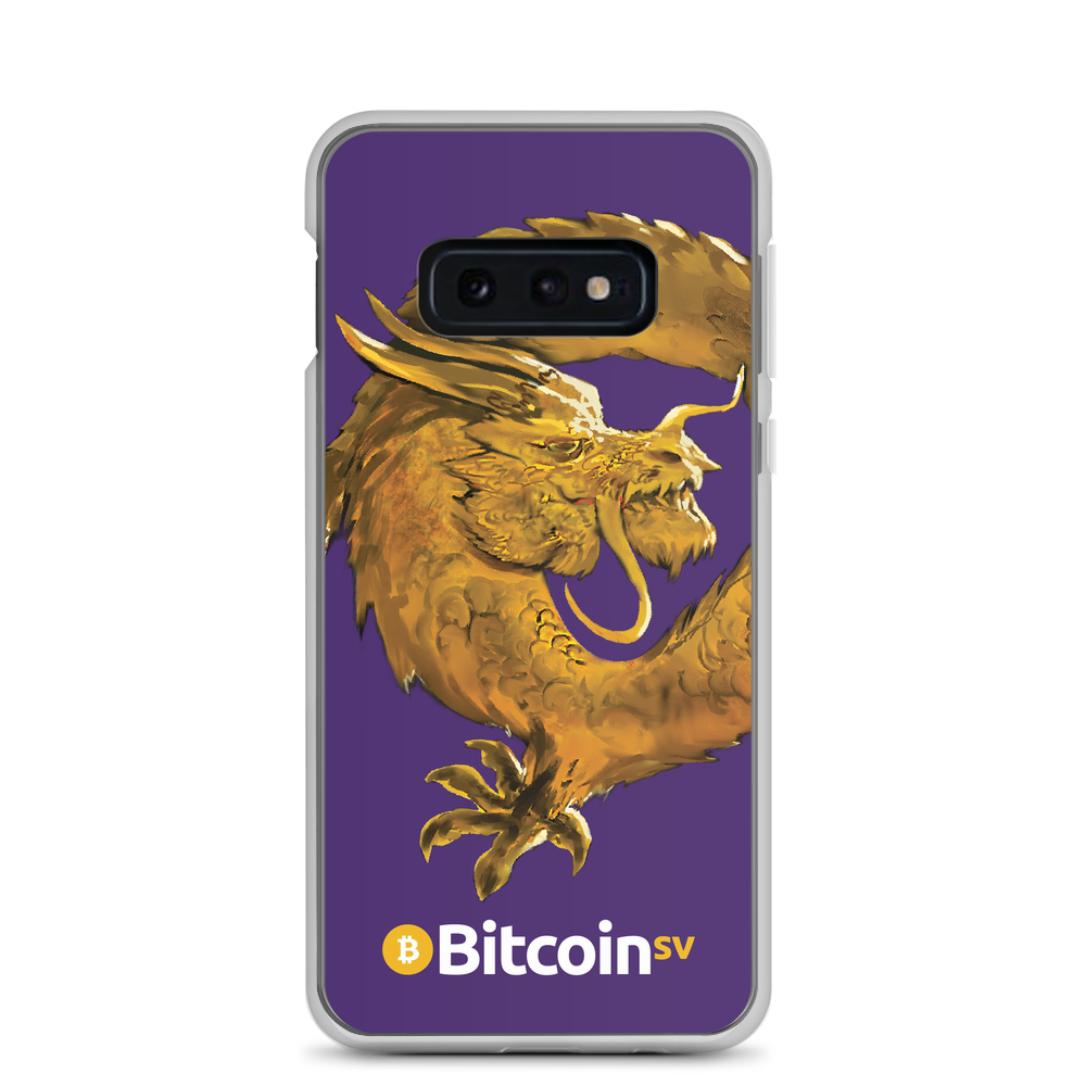 Bitcoin SV Woken Dragon Samsung Case Purple Samsung Galaxy S10e  - zeroconfs