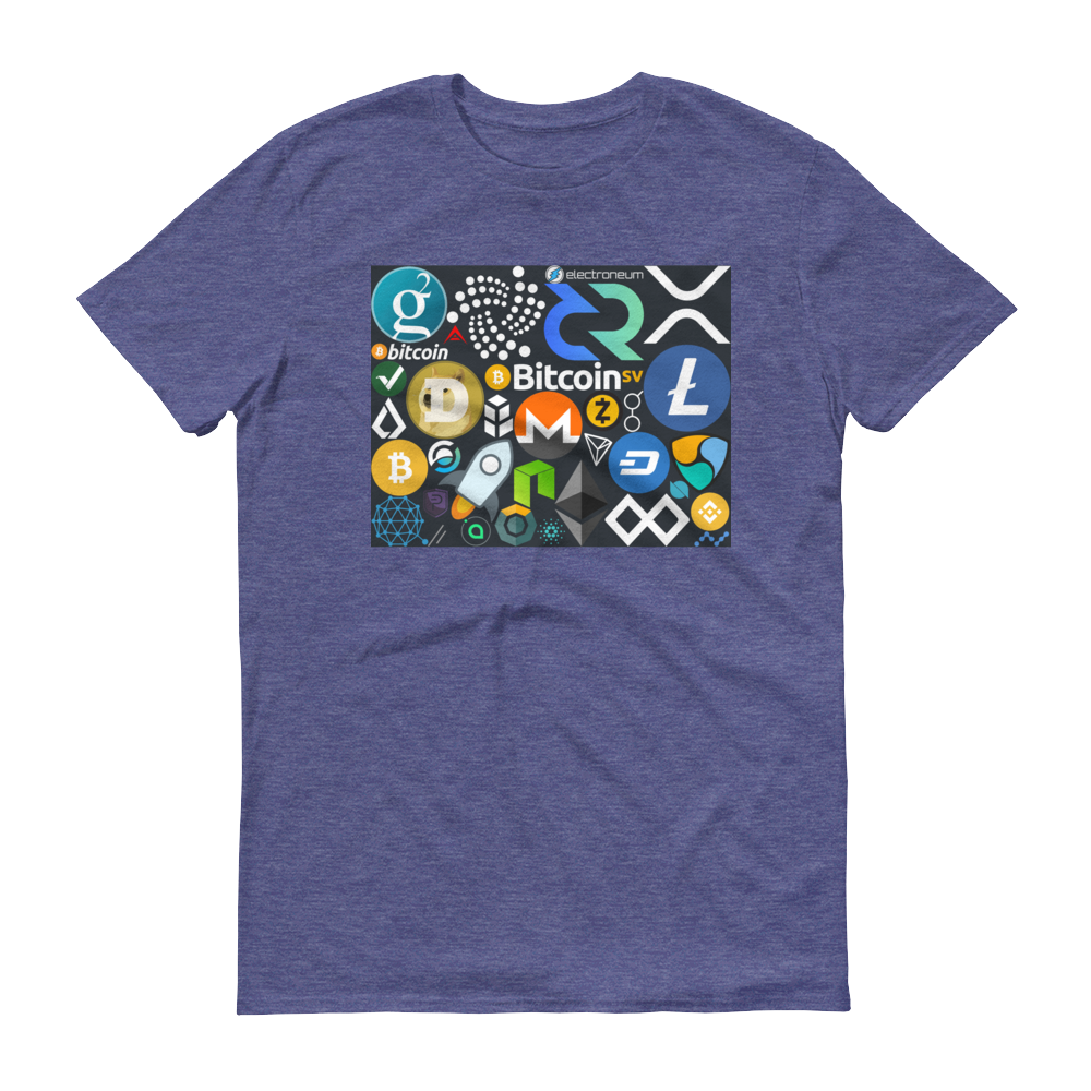 Crypto Calling Short-Sleeve T-Shirt Heather Blue S - zeroconfs