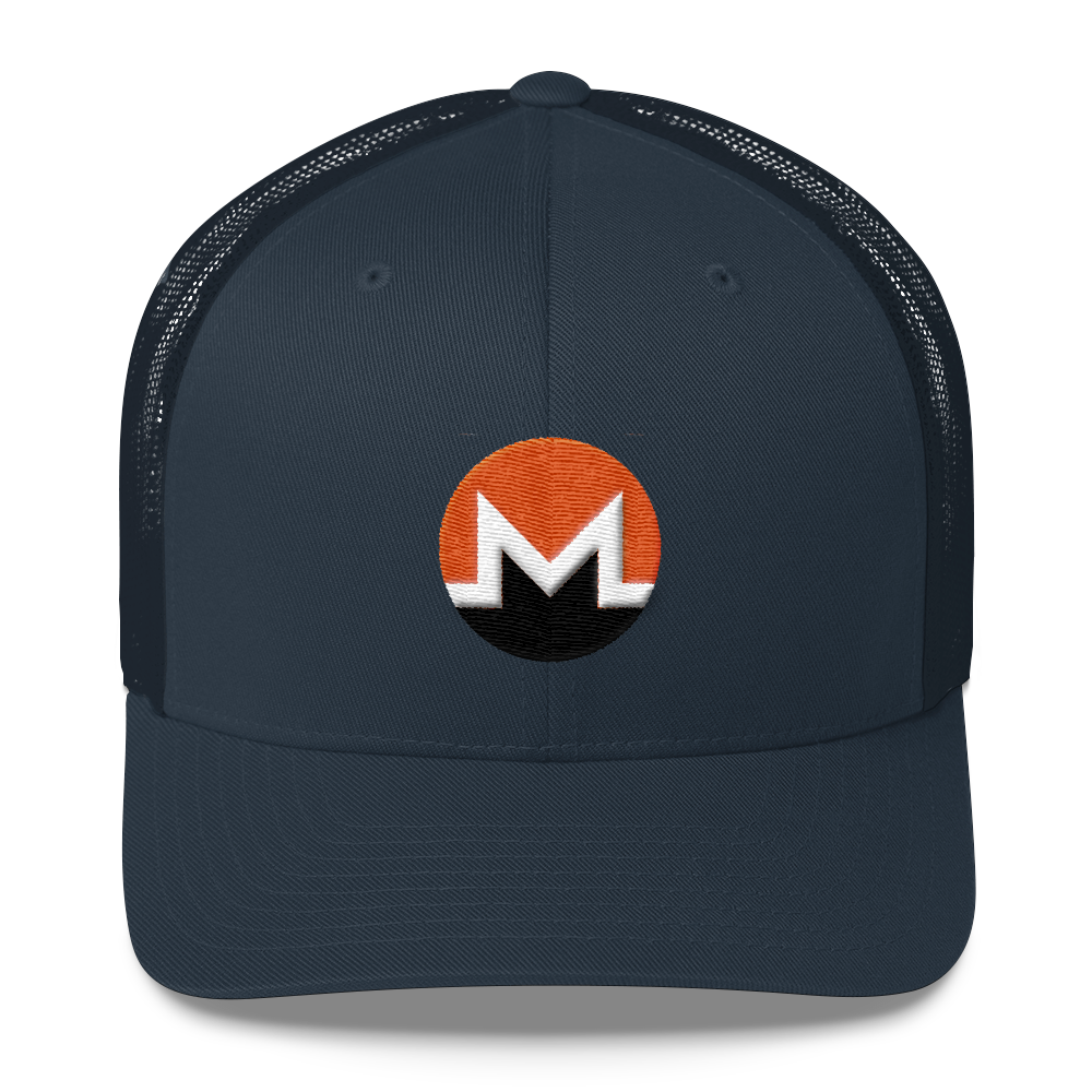 Monero Trucker Cap Navy  - zeroconfs