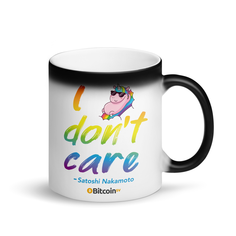 I Don't Care Bitcoin SV Magic Mug Default Title  - zeroconfs