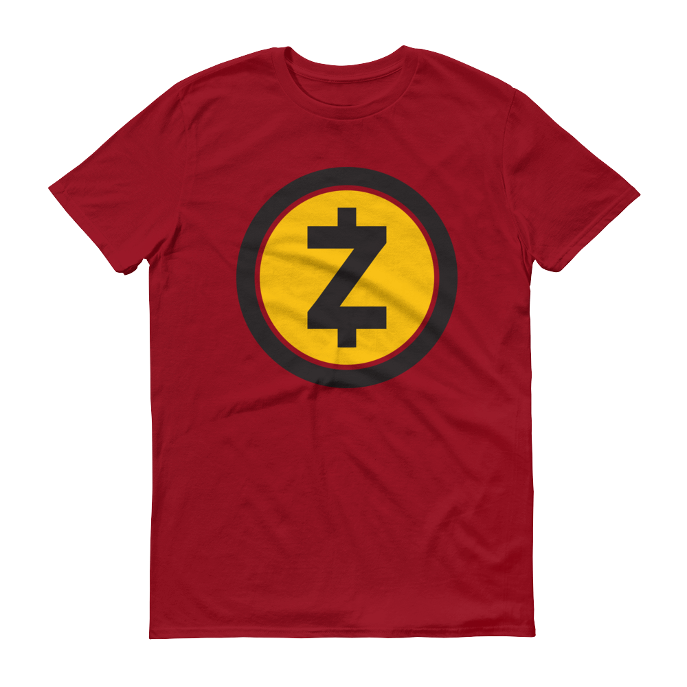 Zcash Short-Sleeve T-Shirt Independence Red S - zeroconfs