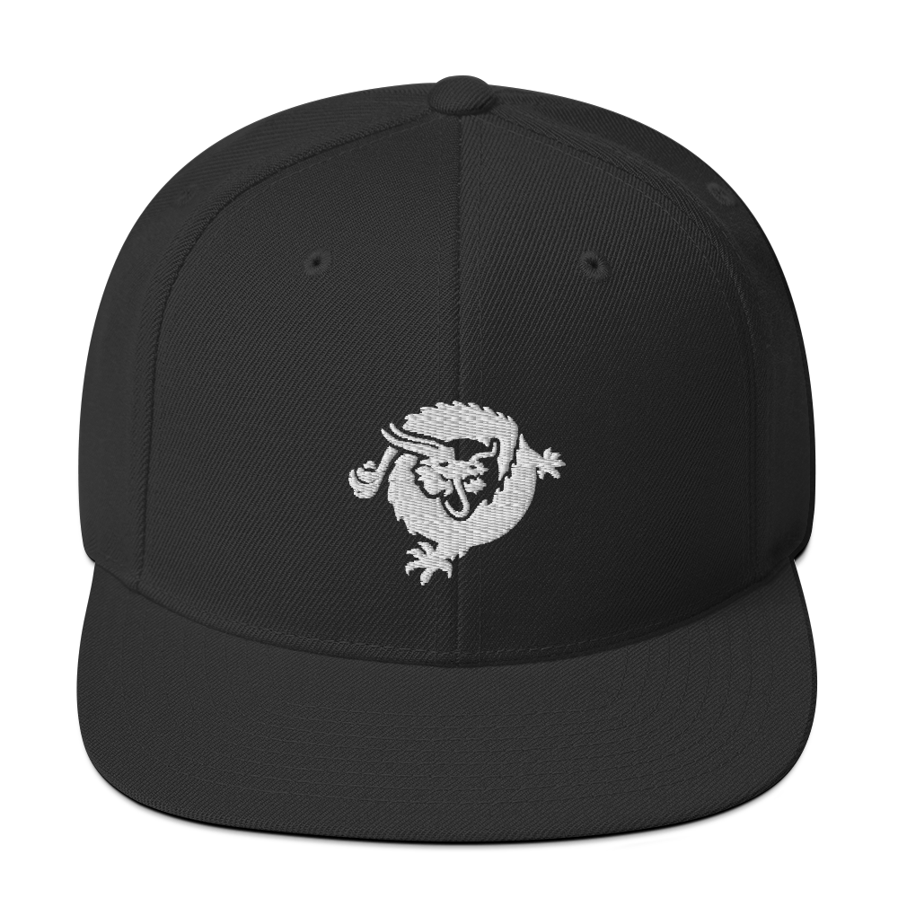 Bitcoin SV Dragon Snapback Hat White Black  - zeroconfs