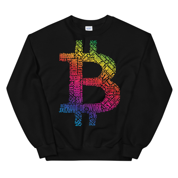Bitcoin SV Proof Of Work Women's Sweatshirt Black S - zeroconfs