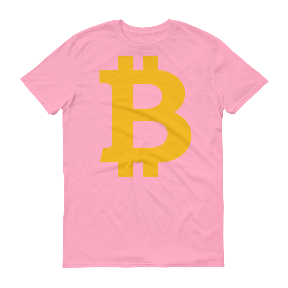 Bitcoin B Short-Sleeve T-Shirt Charity Pink S - zeroconfs
