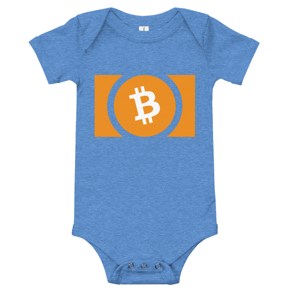 Bitcoin Cash Baby Bodysuit Heather Columbia Blue 3-6m - zeroconfs
