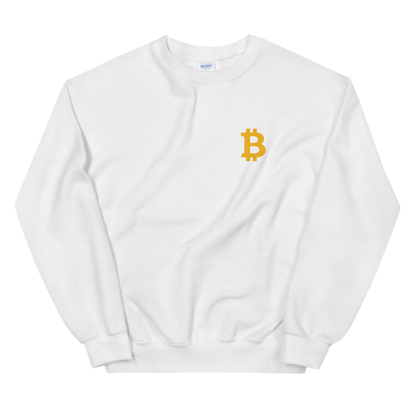 Bitcoin Small B Sweatshirt White S - zeroconfs