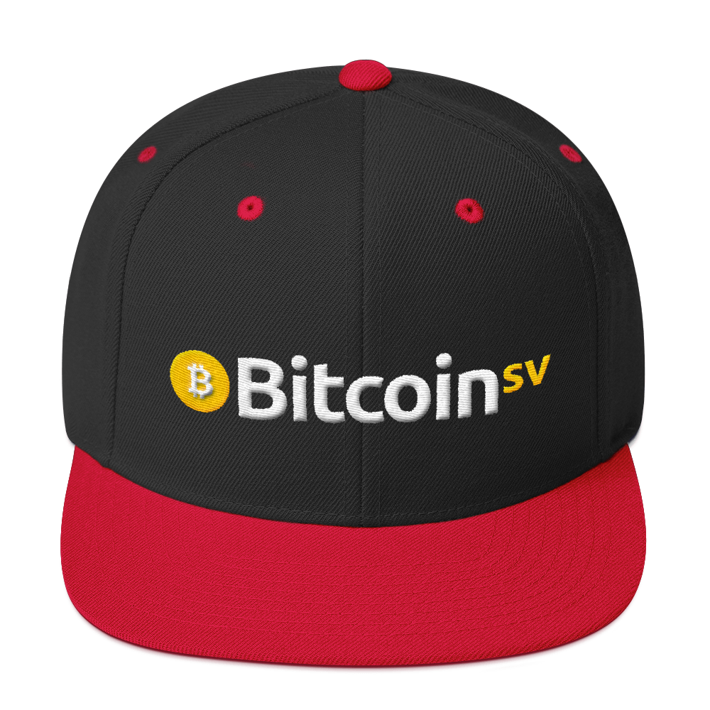 Bitcoin SV Snapback Hat Black/ Red  - zeroconfs