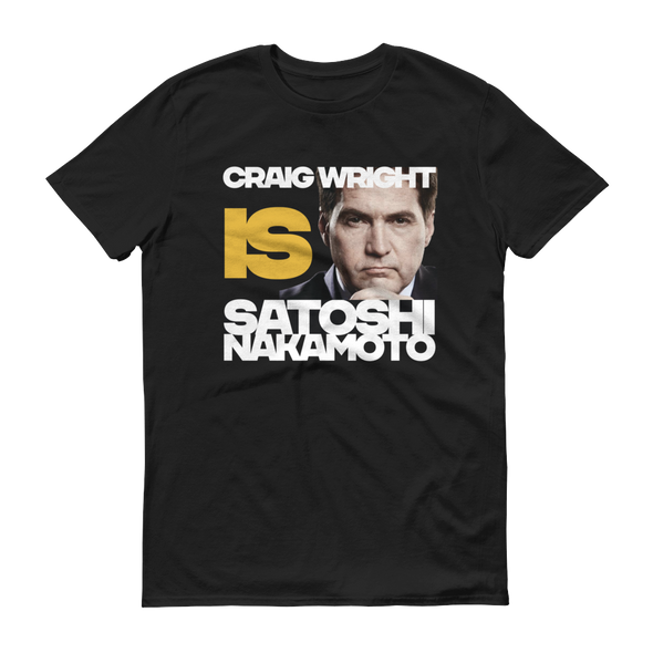 Craig Is Satoshi Have A Nice Day Short-Sleeve T-Shirt Black S - zeroconfs