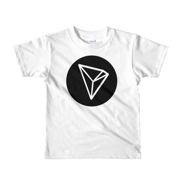Tron Short Sleeve Kids T-Shirt White 2yrs - zeroconfs