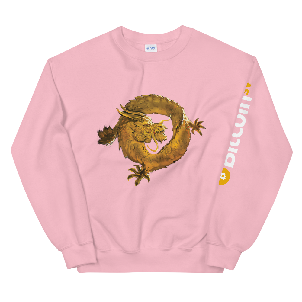 Bitcoin SV Woken Dragon Women's Sweatshirt Sleeve Light Pink S - zeroconfs