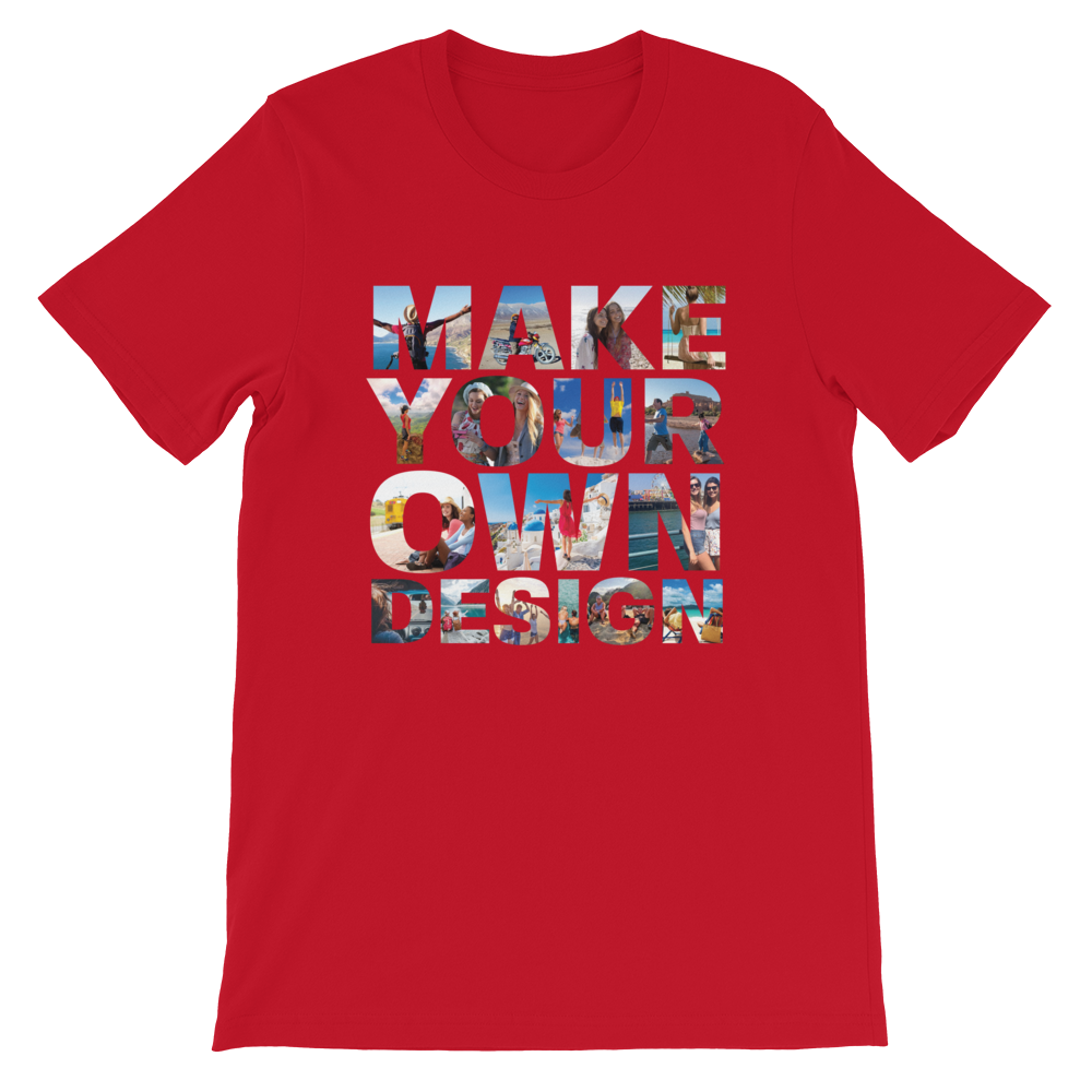 Make Your Own Design Customizable Short-Sleeve T-Shirt Red S - zeroconfs