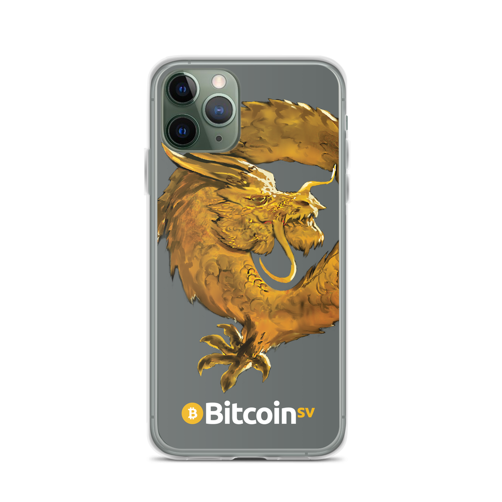 Bitcoin SV Woken Dragon iPhone Case Gray iPhone 11 Pro  - zeroconfs