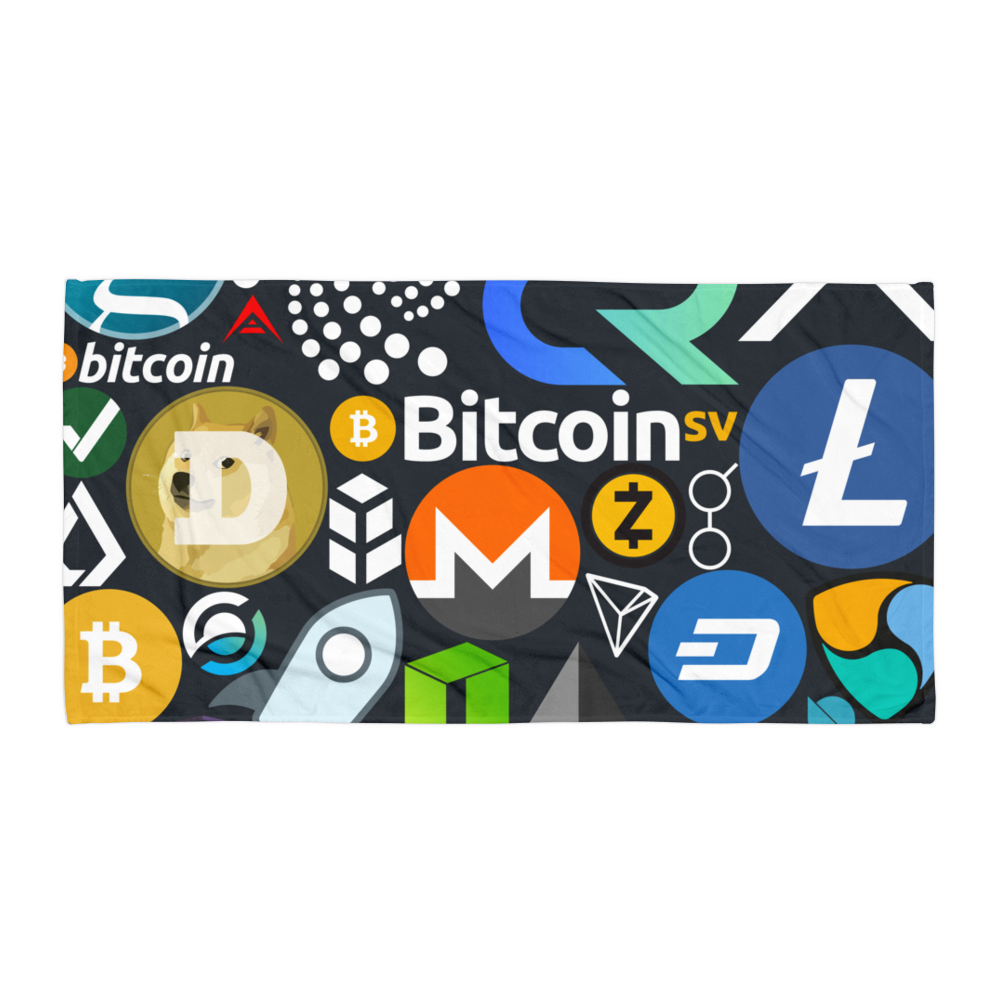 Crypto Calling Beach Towel Default Title  - zeroconfs