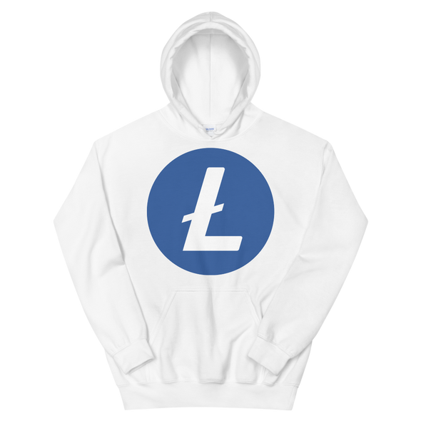 Litecoin Women's Hooded Sweatshirt White S - zeroconfs