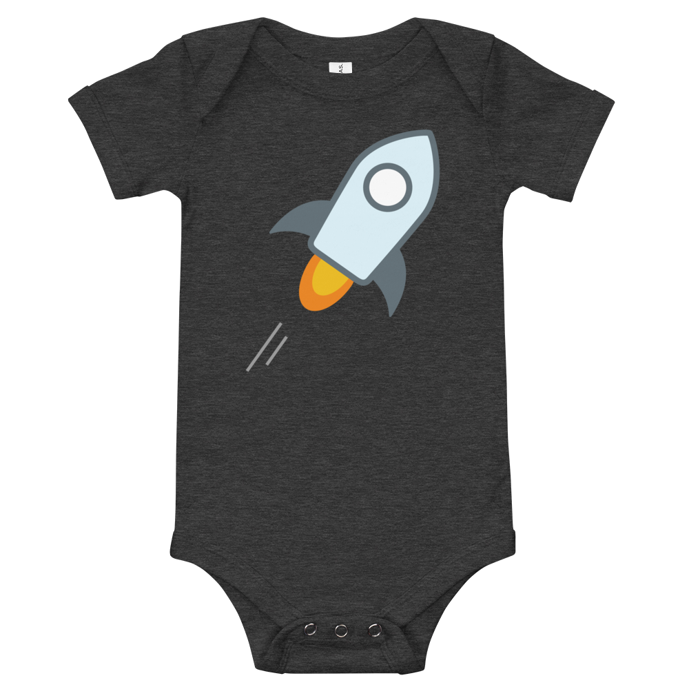 Stellar Baby Bodysuit Dark Grey Heather 3-6m - zeroconfs