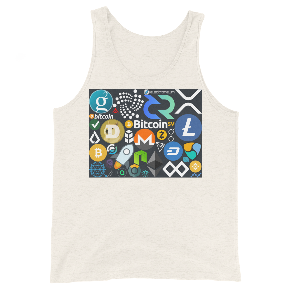 Crypto Calling Tank Top Oatmeal Triblend XS - zeroconfs