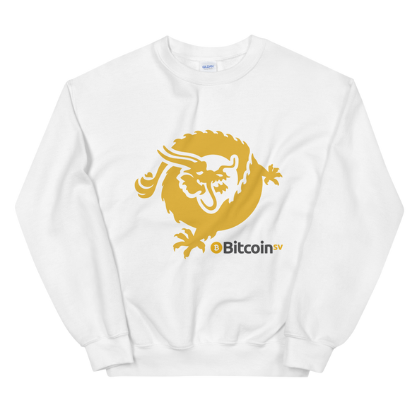 Bitcoin SV Dragon Sweatshirt White S - zeroconfs