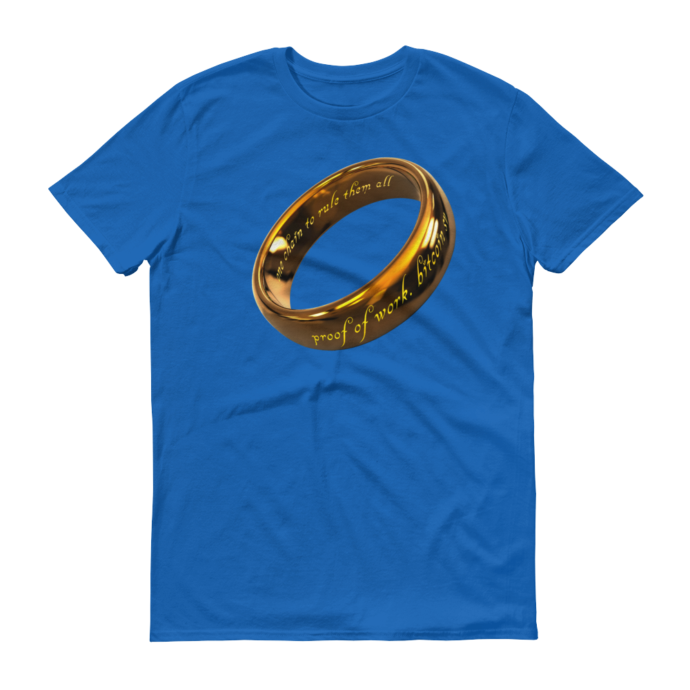 One Chain To Rule Them All Bitcoin SV Short-Sleeve T-Shirt Royal Blue S - zeroconfs