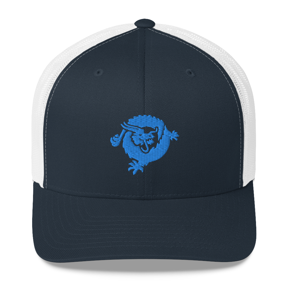 Bitcoin SV Dragon Trucker Cap Blue Navy/ White  - zeroconfs